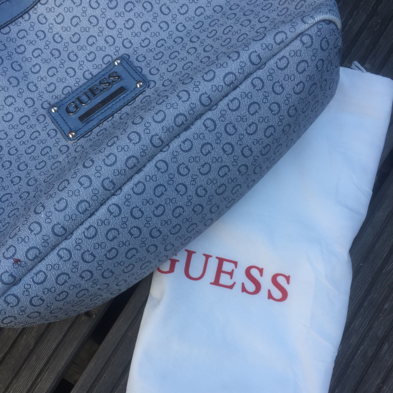 Vintage Guess Bag (Shopper Tote) • Used condition Depop