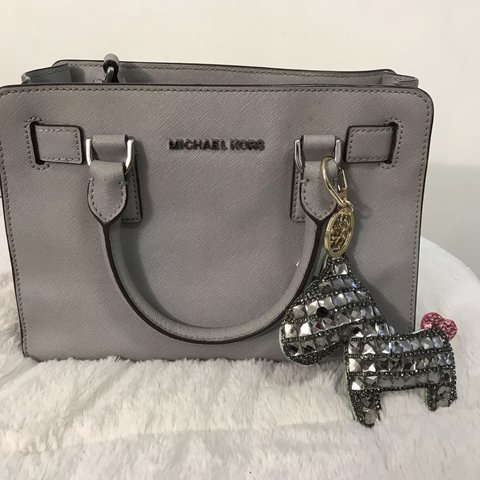 77a9bc0c257c Michael kors Dillon small gray satchel crossbody - Depop