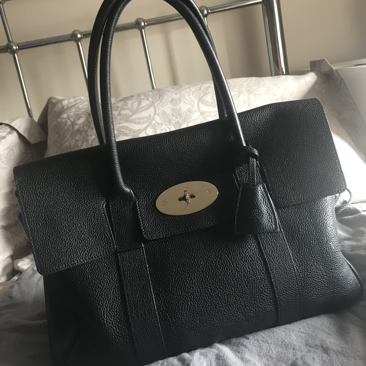 100% genuine black mulberry bayswater bag comes with dust - Depop c9b556dc39e23