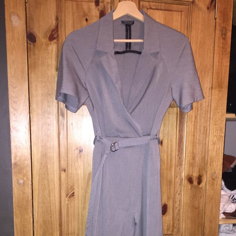 039bcfe82724 Topshop judo wrap jumpsuit in size 8. Worn several times but - Depop