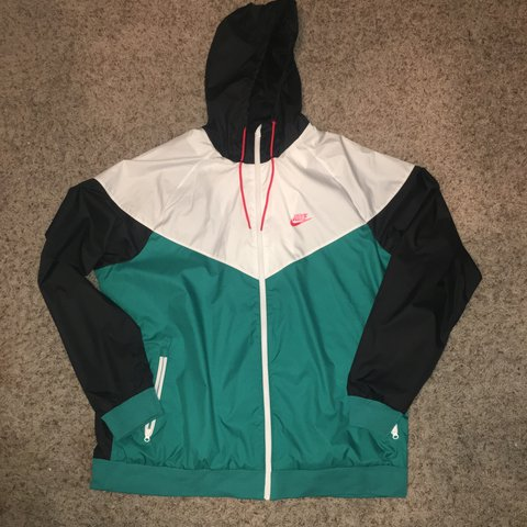 f08067e149 Nike windbreaker jacket in teal white orange   black! Size - Depop