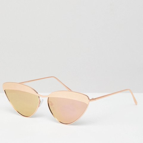 c556e51d945 Metal Rose Gold Sunglasses Cat eye sunglasses