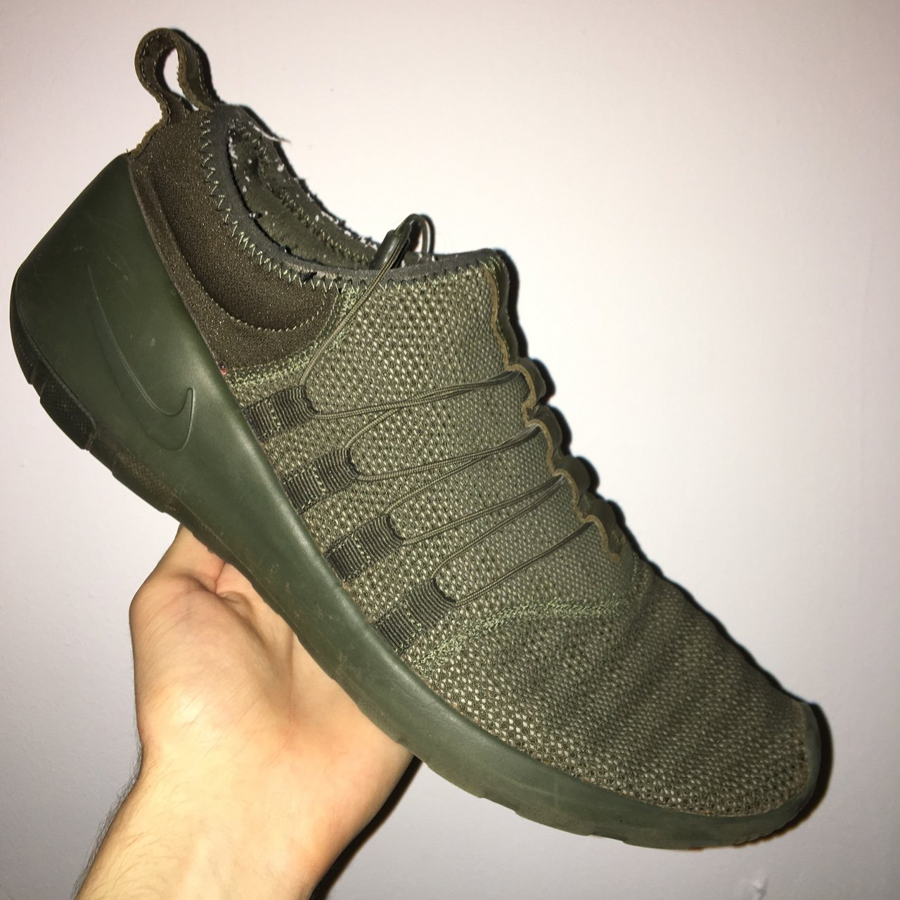 Olive Green NIKE Payaa SIZE 11 NO inner dole Most trainers - Depop 12479fe29