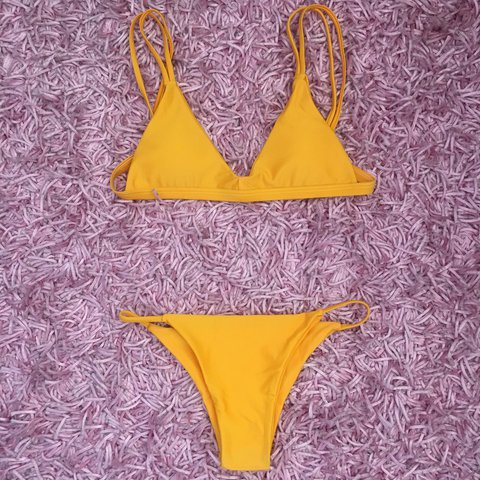 186a5cd228 @tiarnemanfre. 11 months ago. Sydney, Australia. Vincija bikini mustard  colour. Never worn. Comes with removable padding