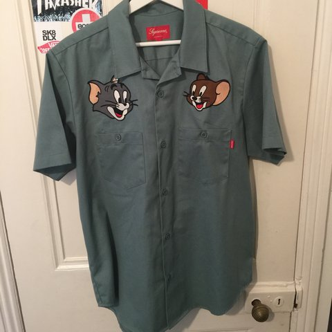 Orr44 2 Years Ago London United Kingdom Supreme Tom And Jerry Work Shirt