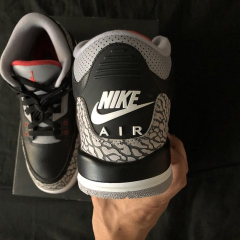 "cd9129c3f457 2018 Jordan Retro 3 ""Black Cement"". Only worn 3 times"