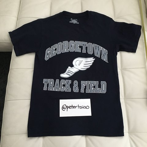 0a8e7158 @peterhsiao. 10 months ago. Dallas, United States. Vintage Champion NCAA  Georgetown Track & Field Big Logo T-shirt
