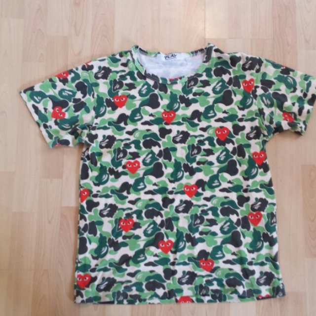 241ea051 Bape X Comme des Garcons Play tee in large. It is from the X - Depop