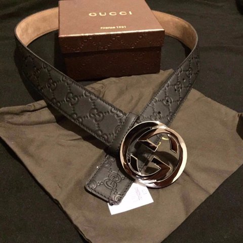 8596ae87b 100% AUTHENTIC MENS GUCCI BELT Belt is in new/never worn in - Depop