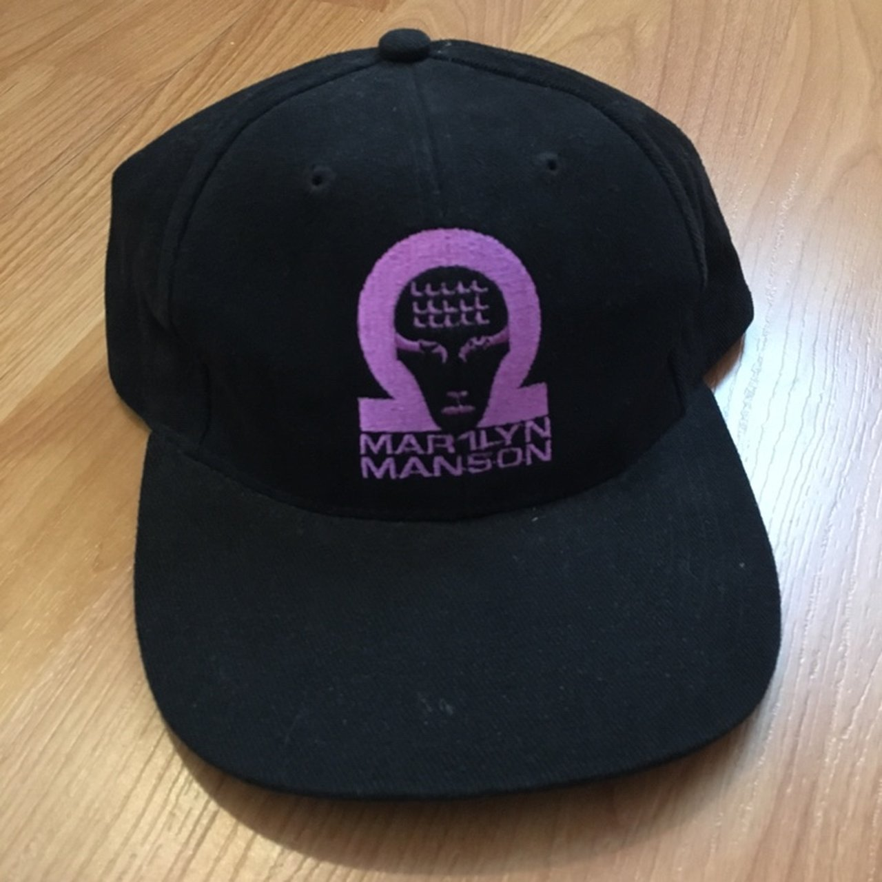 Vintage Marilyn Manson Strapback Hat. Rare. Embroidered Out - Depop 0940e7c422d