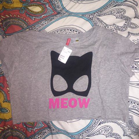 3bc2ded0512 BNWT cat woman crop top from H&M. had it for a long time and - Depop