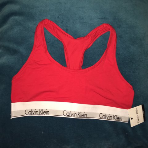c571167b5a4f @holymoly_. last year. Cotherstone, United Kingdom. brand new red Calvin  Klein bralette~never been worn ...