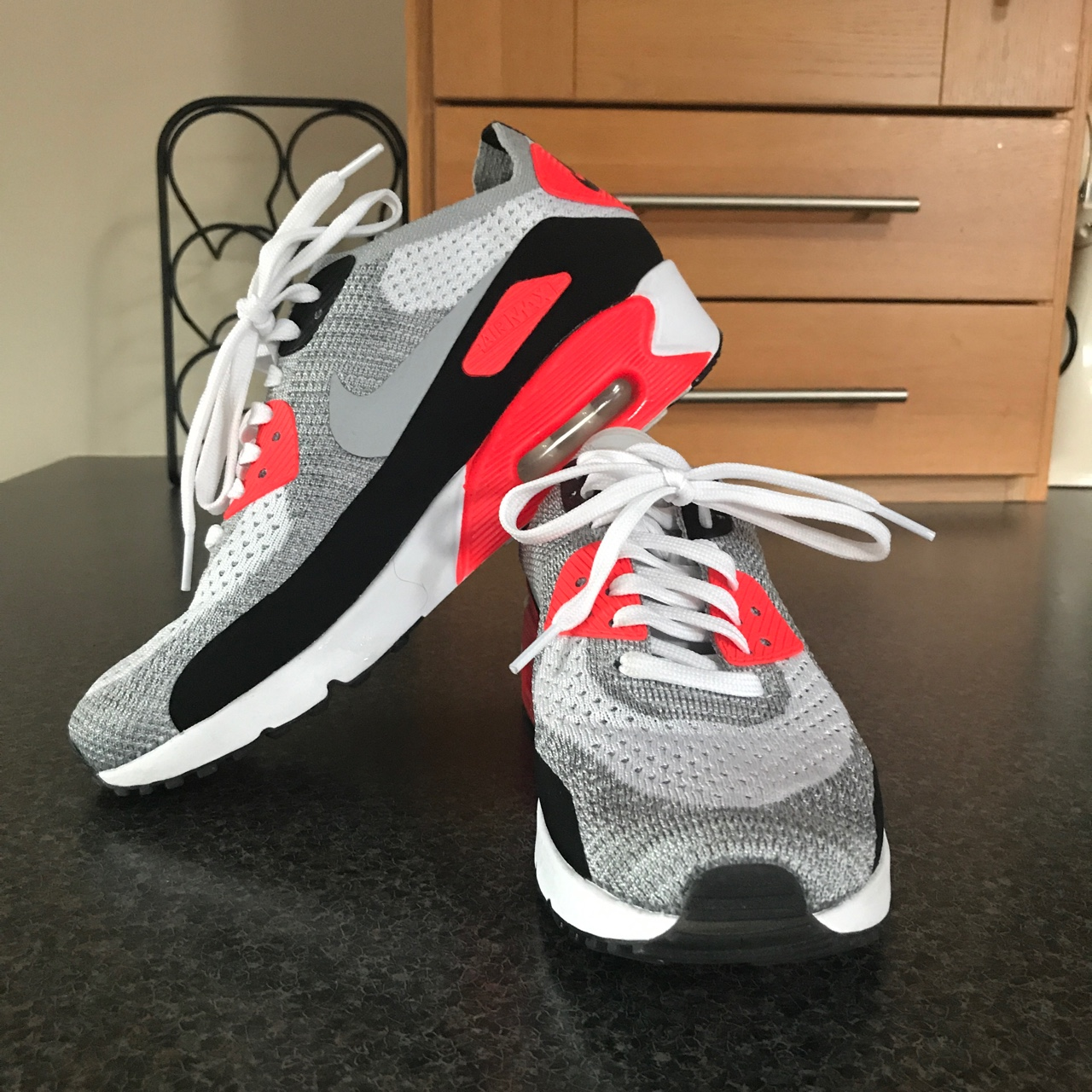 Nike Air Max 90 Ultra 2.0 Flyknit Infrared. Size: Depop