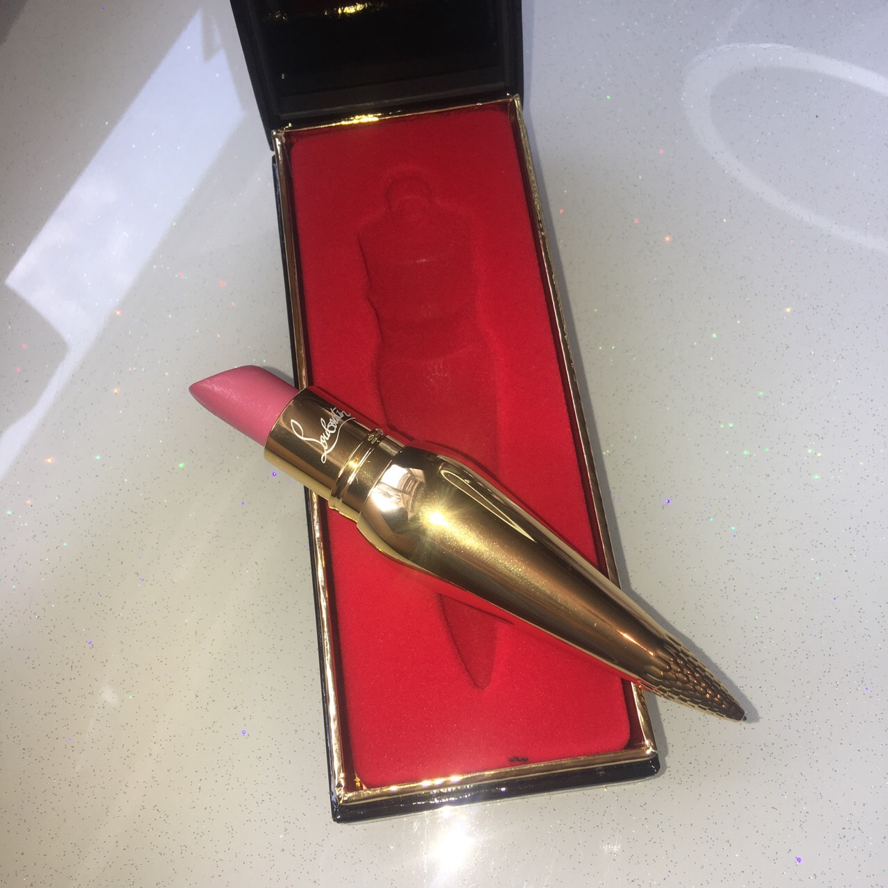 Christian Louboutin Lipstick Used Once On A Night Depop