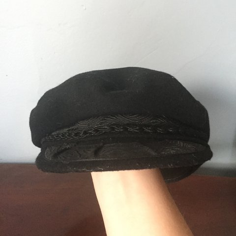 96976ddd5f0 VINTAGE Sailors hat. Simple black hat with a lot of has rope - Depop