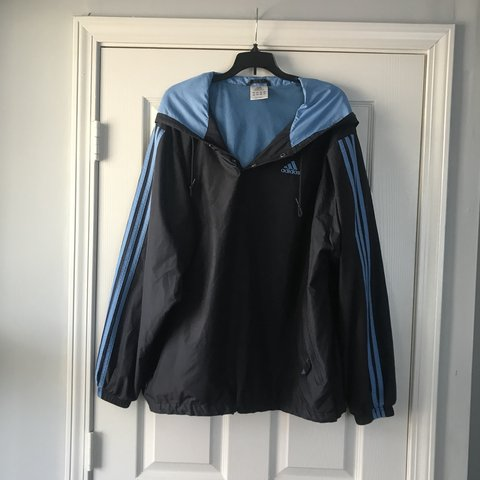 31136385f599 Light blue   navy blue adidas windbreaker in lovely preowned - Depop
