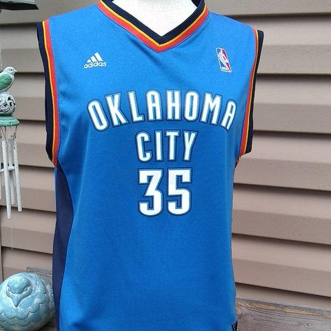 383a24625 Adidas Kevin Durant Oklahoma City  35 Jersey Size Large - Depop