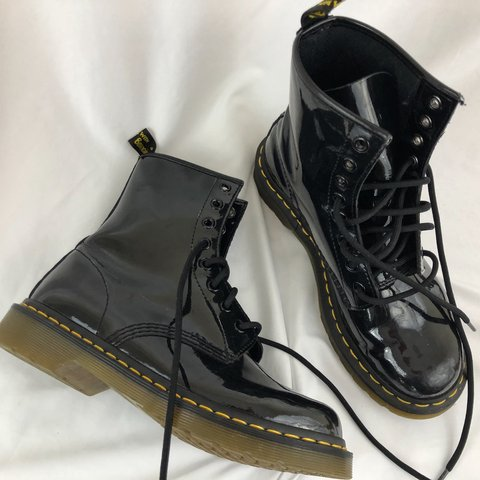 b5a364fde7c1 @hassidavintage. 9 months ago. Lakewood, United States. Dr Martens modern  classics 1460 W patent 8-eye boots.