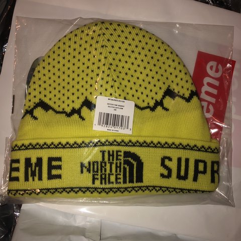 52547ea84ec Supreme x TNF beanie FW18 Brand new never worn still in out - Depop