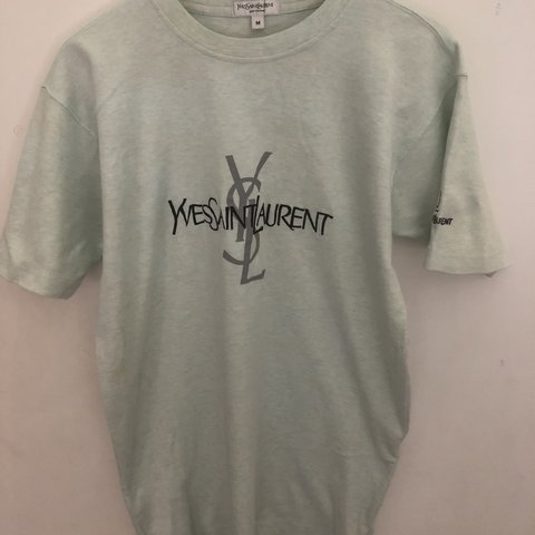 cd585428 @projectc. 3 months ago. Godalming, United Kingdom. Vintage embroidered  yves saint Laurent ysl T shirt.