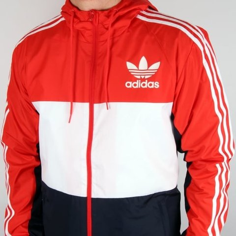 red white blue adidas jumper