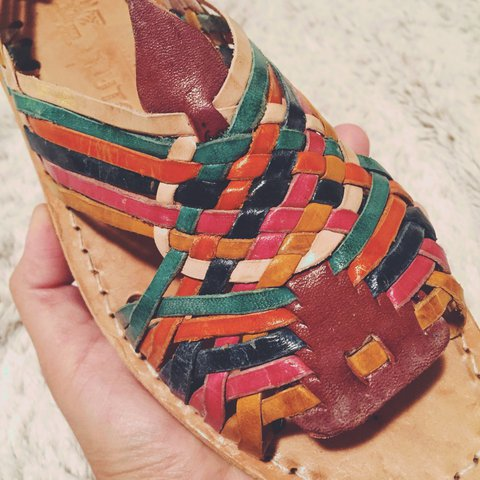 059b05b37d97 Rainbow 🌈 Huaraches From Mexico 🇲🇽 Never worn! My dad a - Depop