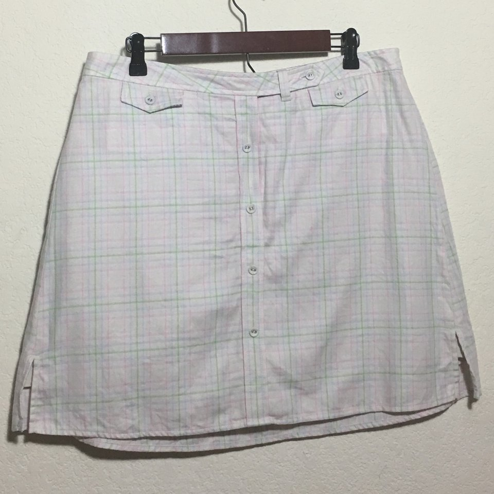 Tommy Hilfiger vintage plaid skirt pixie fuzz