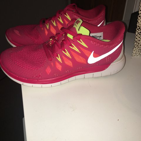 27e526153d Selling my pink Nike free run 5.0 split sole trainers, only - Depop