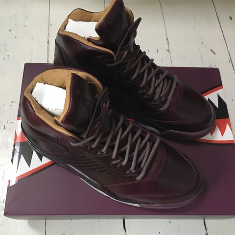 07bb6e731b0733 Nike air Jordan 5 retro premium Bordeaux An opulent for 5th - Depop