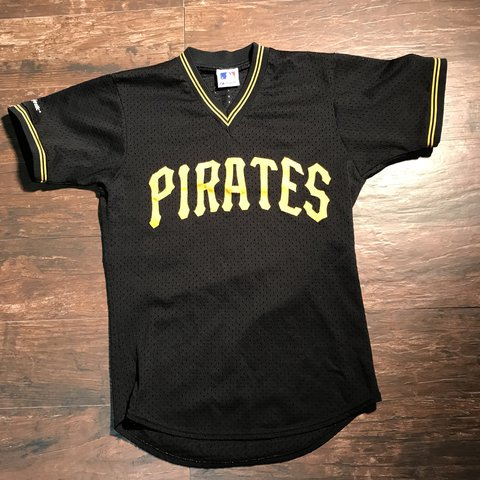 8c8ff19a5 Vintage Pittsburgh Pirates Majestic Jersey. Size Medium Wear - Depop