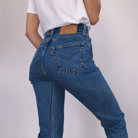 9e982d98 Rare and flawless Vintage 501 Levi's Jeans! Gorgeous blue a - Depop