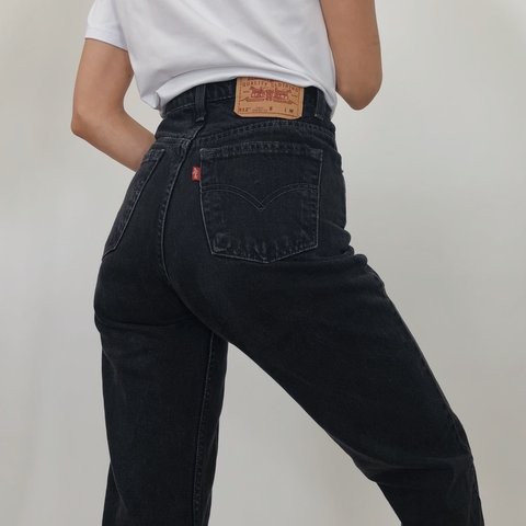 d40fa6c4 Vintage 512 Levi's Jeans! Gorgeous black wash with the wear. - Depop