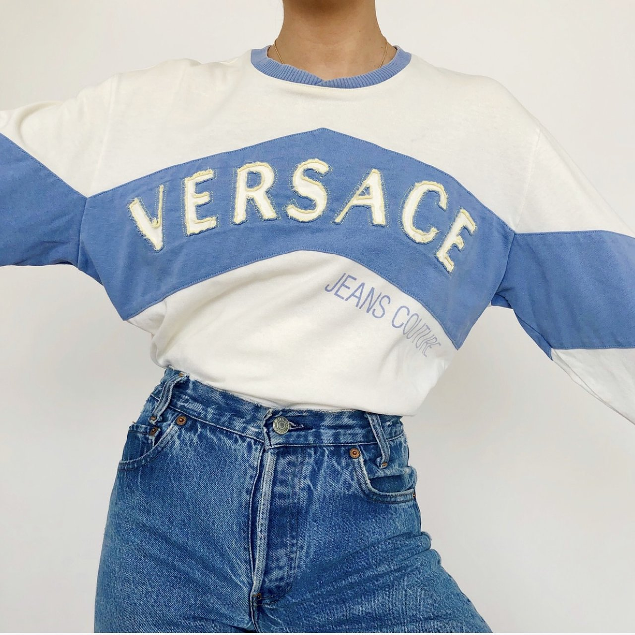 a112120d @goldpenny. 4 months ago. San Francisco, United States. Rare AF Vintage Versace  Jeans Couture long sleeve! ▫️100% cotton ...