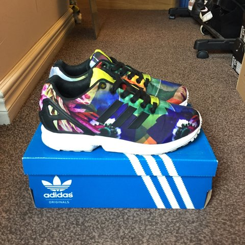 407aa6919 Adidas ZX Flux floral torsion city pack Barcelona size 4.5 - Depop