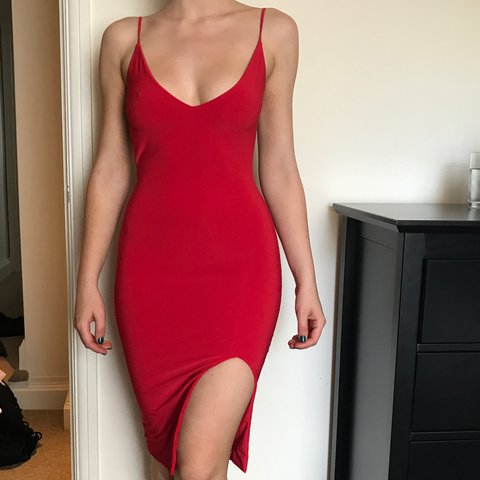 boom boom the label senorita dress in red size xs depop