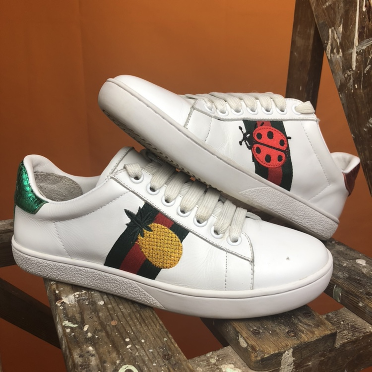 AUTHENTIC Gucci ace embroidered - Depop