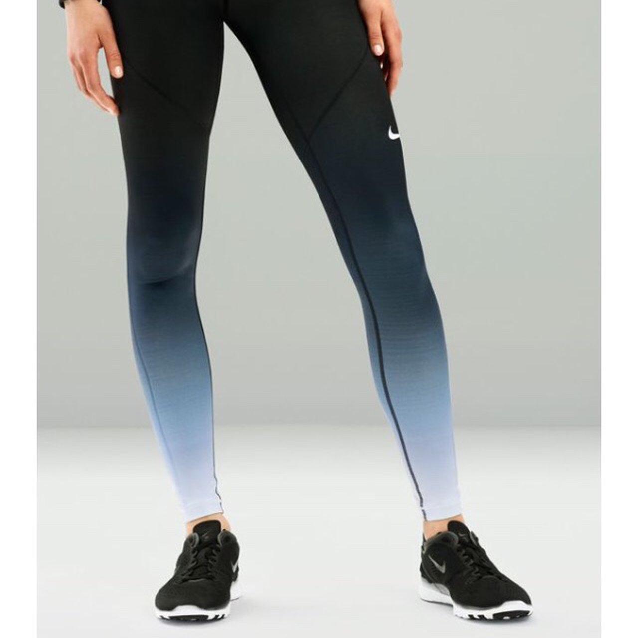 cbf015a2b4967 Really cool blue ombré Nike pro leggings in size XS. Bought - Depop