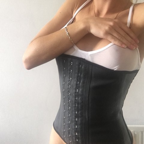 00a26d88d1c Angel curves Latex waist trainer. Very tight and does the - Depop