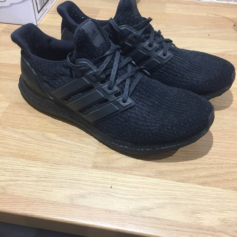 732cbe071ce16 Adidas ultra boost triple black v3 No box 7 10 condition Uk - Depop