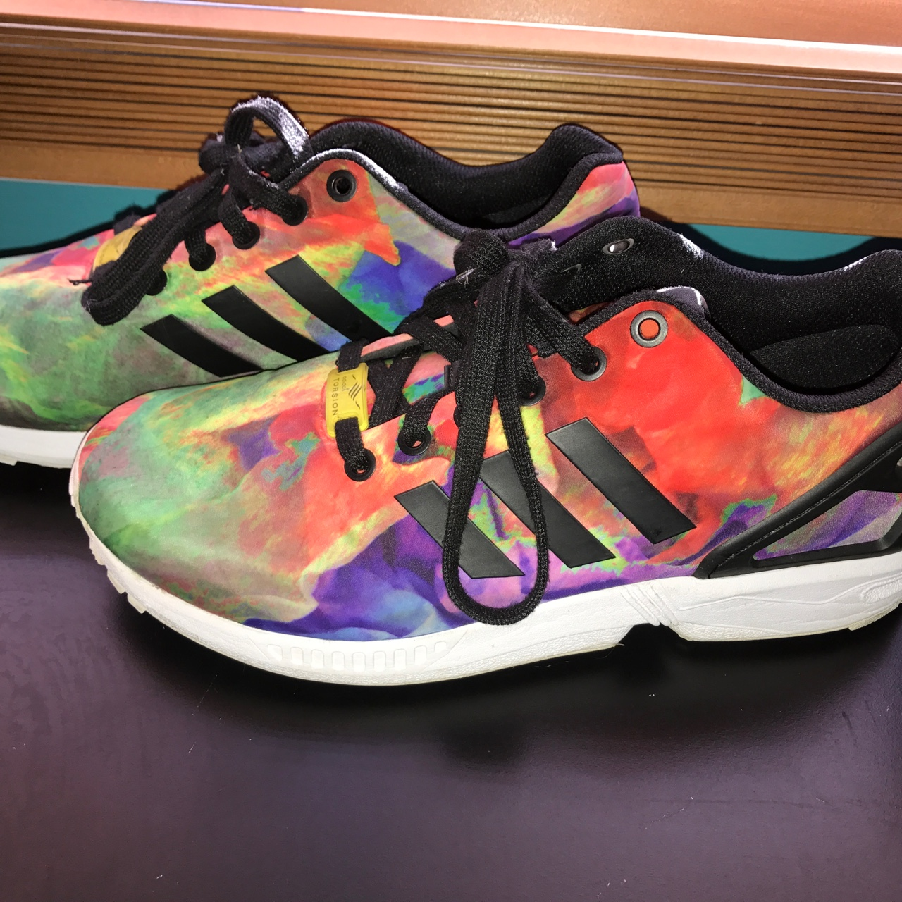 huge discount 212c6 93d77 Colorful Adidas ZX flux. Still in great condition. - Depop