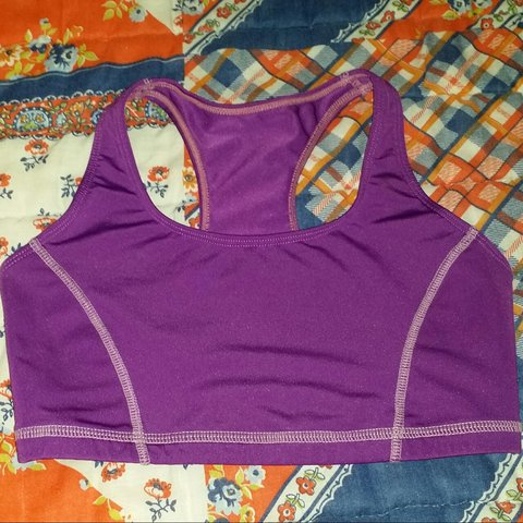 7dd63f17f120e Purple Unpadded Sports Bra Racerback style. Perfect for the - Depop