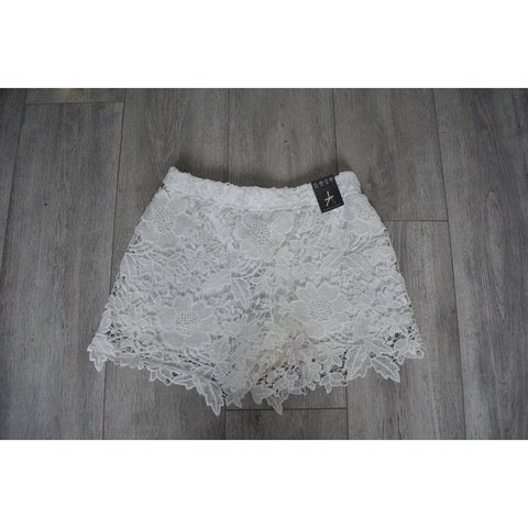 Bnwt Primark Lace Crochet Shorts Size 8 Perfect Condition Depop