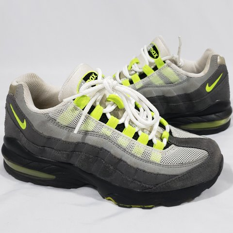 6700b97e396d 2012 Nike Air Max 95 grey neon green black in very good with - Depop