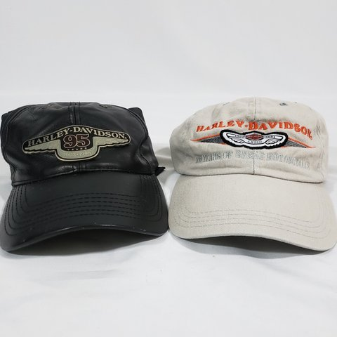 e583977be8fac Vintage 98 03 95th and 100th Anniversary Harley Davidson Hat - Depop