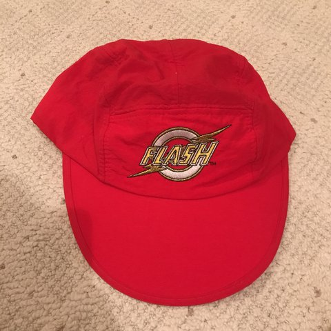 Vintage The Flash hat. Velcro strap to adjust. One size fits - Depop 33e4b3c5ffa