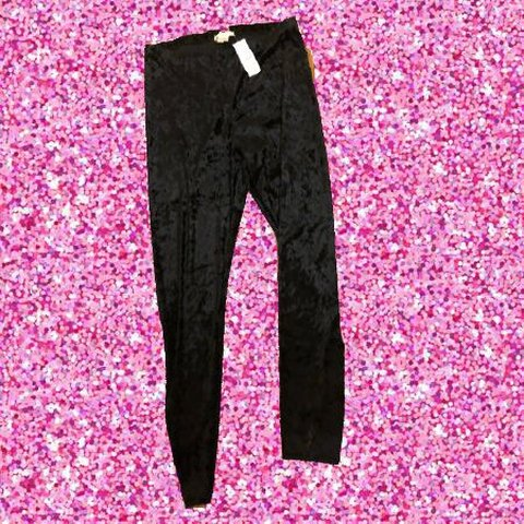 b64df7e1bca0 Crushed velvet leggings from PacSun! These are so cute it my - Depop