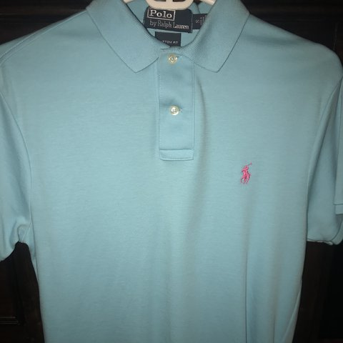 f5700a86 @zachkrueger19. last year. Tampa, United States. Polo Ralph Lauren polo  shirt in living blue with pink ...