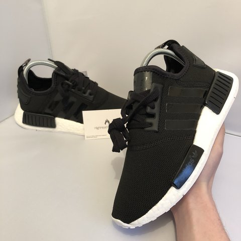 Adidas Originals NMD R1 W    UK 5.5    Black White Rose Gold - Depop 71995f351