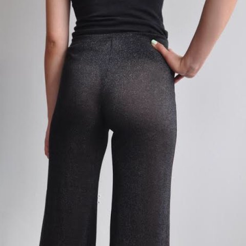 b507f326 @privatestock. 2 years ago. Boston, United States. FABULOUS SHEER 90's  DISCO PANT Wide legged sparkly semi-sheer pants from Lip ...