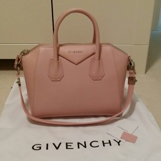597177ab5e  hjng. 4 years ago. Canada. Brand new givenchy antigona bag. Size small. Baby  pink pebbled leather